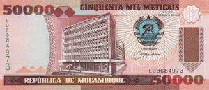 Mozambique, 50,000 Meticais, P138