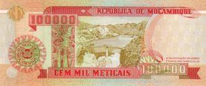 Mozambique, 100,000 Meticais, P139
