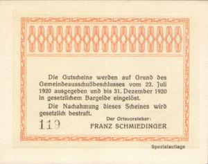 Austria, 75 Heller, FS 141IId