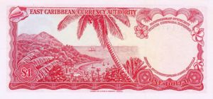 East Caribbean States, 1 Dollar, P13g Sign.10
