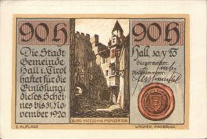 Austria, 90 Heller, FS 342IIb