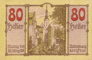 Austria, 80 Heller, FS 445IIa