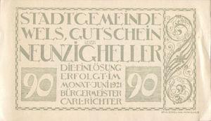 Austria, 90 Heller, FS 1167IIIe