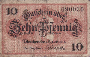 Germany, 10 Pfennig, B64.1c