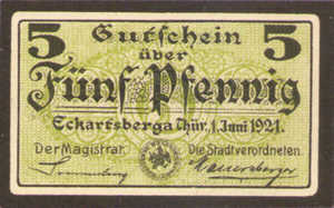 Germany, 5 Pfennig, 305.3