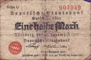 Germany, 1/2 Mark, N59.2