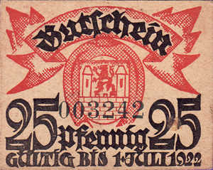 Germany, 25 Pfennig, W51.1a