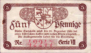 Germany, 5 Pfennig, S90.3a