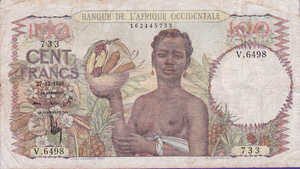 French West Africa, 100 Cent Franc, P40