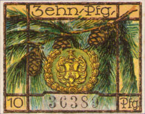 Germany, 10 Pfennig, 463.1a