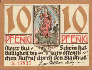 Germany, 10 Pfennig, 668.1a