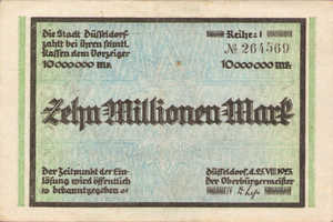Germany, 10,000,000 Mark, 1150t