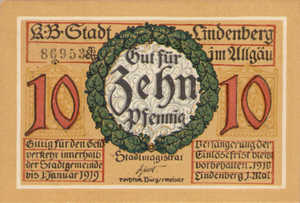 Germany, 10 Pfennig, L47.4a