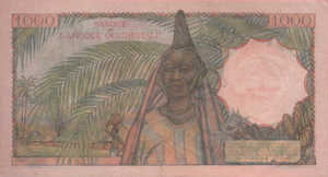 French West Africa, 1,000 Franc, P42