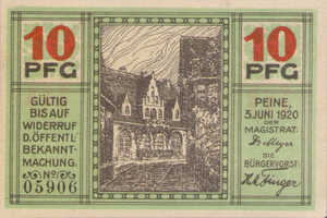 Germany, 10 Pfennig, P11.2a