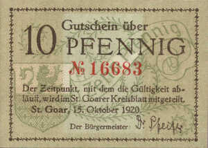 Germany, 10 Pfennig, S12.2a