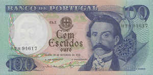 Portugal, 100 Escudo, P169b Sign.3