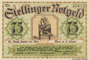 Germany, 75 Pfennig, 1265.1