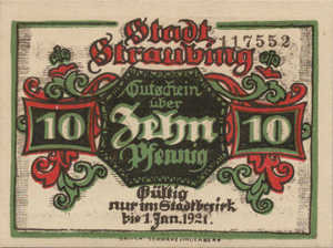 Germany, 10 Pfennig, S119.5a