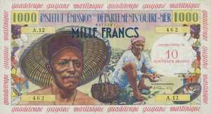 French Antilles, 10 New Franc, P2a