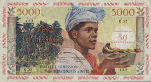 French Antilles, 50 New Franc, P3a