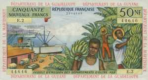 French Antilles, 50 New Franc, P6a