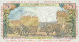 French Antilles, 5 Franc, P7a