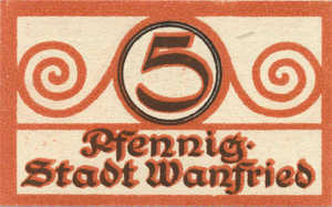 Germany, 5 Pfennig, W9.1a