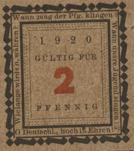 Germany, 2 Pfennig, 1382.3