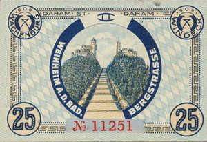 Germany, 25 Pfennig, W21.1a