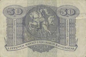 Lithuania, 50 Centu, P4a