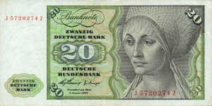 Germany - Federal Republic, 20 Deutsche Mark, P20a