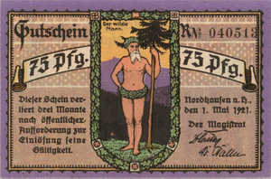 Germany, 75 Pfennig, 987.1c