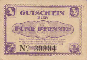 Germany, 5 Pfennig, L30.1a