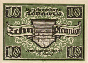 Germany, 10 Pfennig, L58.6b