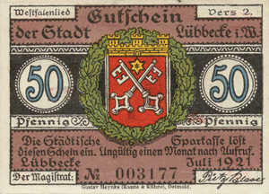 Germany, 50 Pfennig, 819.2a