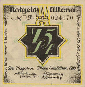 Germany, 75 Pfennig, 30.2