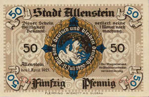 Germany, 50 Pfennig, 13.1a