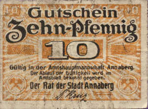 Germany, 10 Pfennig, A19.5b