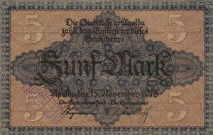 Germany, 5 Mark, 021.01a
