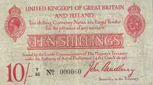 Great Britain, 10 Shilling, P348a