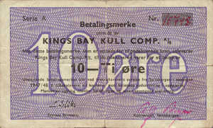 Norway - Spitsbergen, 10 Ore, KB1 1947/1948