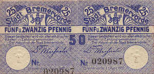 Germany, 50 Pfennig, B87.4ax