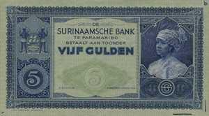 Suriname, 5 Gulden, P85s2