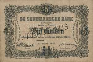 Suriname, 5 Gulden, P71bs