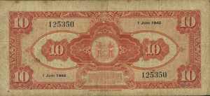 Suriname, 10 Gulden, P89a