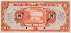 Suriname, 10 Gulden, P89s