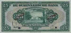 Suriname, 25 Gulden, P90s