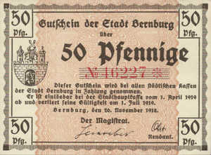 Germany, 50 Pfennig, B32.1b