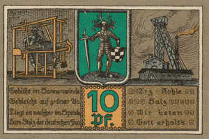 Germany, 10 Pfennig, 119.1a